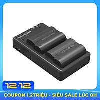 Bộ 2 Pin + Sạc Đôi RAVPower EN-EL15 Cho Nikon D7200, D800, D800E, D810, D850... (Hàng Chính Hãng)