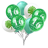 10 Pieces Assorted Balloons16th Birthday Latex Balloons for Birthday Party Decor 12 Inch