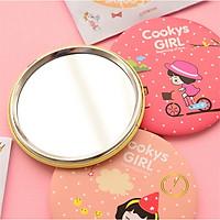 Combo 3 Gương Mini - Gương trang điểm Cầm tay Hàn Quốc Siêu Dễ Thương - Hình Ngẫu nhiên