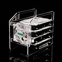 DIY 3.5inch Acrylic Hard Drive Bracket Accessories for HDD SSD