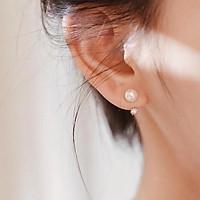 Bông tai, khuyên hoa tai nữ bạc đẹp quả tròn ,trang sức bạc phong cách Hàn Quốc Minh Thoa JEWELRY