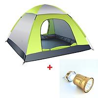 Lều cắm trại 4 người tự bung chống thấm kích thước 200 x 200 x 120cm nặng 1.7kg, liều cắm trại 2 cửa mini dùng để đi du lịch dã ngoại câu cá tiện lợi - [TẶNG ĐÈN PIN LED DÃ NGOẠI ĐA NĂNG]