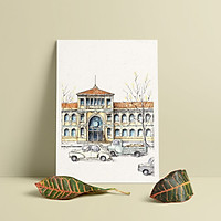 Tranh Poster Sài Gòn xưa | Bưu điện Thành Phố | Soyn SGX001