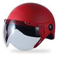 Mũ Bảo Hiểm Nửa Đầu A033K có kính chắn gió, chống bụi_ Mũ 1/2 có kính trơn