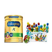 Bộ 1 lon Sữa bột Enfagrow A+ 4 với DHA và MFGM cho trẻ từ 2-6 tuổi – (Lon 1.7kg) - Tặng 1 Đồ chơi Bowling