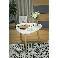 Bàn sofa oval trắng (M)