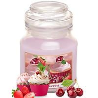Ly nến thơm tinh dầu Bartek Fruits Muffins 130g QT0400 - bánh muffin trái cây (giao mẫu ngẫu nhiên)
