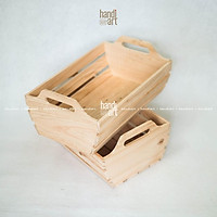 Khay gỗ pallet đựng quà/ Khay gỗ trái cây