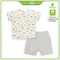 [Giảm đến 50%] Bộ quần áo cộc tay bổ nẹp Lullaby cho bé trai NHTO8B