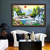 Tranh dán tường SƠN THỦY HỮU TÌNH in giấy ảnh với 2 lựa chọn bề mặt cán PVC gương hoặc cán bóng kính,Mã số: 00400771L12