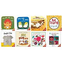 Cùng bé khám phá bộ truyện tranh ehon Nhật Bản gồm 8 cuốn : Tất cả đều đi ị + Cá vàng trốn đâu rồi nhỉ ? + Bull chơi trốn tìm + Chuyện xì hơi  + Bé trứng + Mako chuyến phiêu lưu trong bồn tắm + Giày nhỏ đi thôi + Tay xinh đâu nhỉ ?