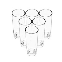 Bộ ly 6 cái Union Glass 393 Ly ống mỹ,  không ngã màu,  sản xuất Thái Lan
