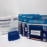 Bộ 3 vỉ (6 viên) pin sạc Panasonic Eneloop AAA BK-4MCCE/2B-V-Hàng chính hãng