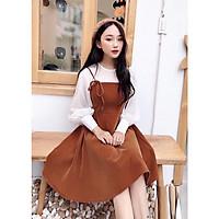 Đầm tay bồng váy hai dây L013 mẫu váy bánh bèo nữ đầm xòe đẹp mặc kết hợp hoặc mặc rời đều được, siêu xinh