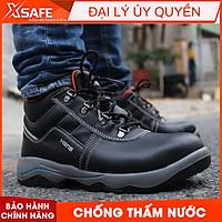 Giày bảo hộ lao động nam Hans HS55 da bò, chống nước, chống đinh, va đập, trơn trượt - Giày công trình, nhà máy, cao cấp