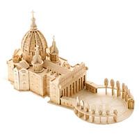 Mô hình lắp ghép 3D bằng gỗ Thánh đường St. Peter Basilica