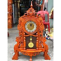 Đồng hồ để bàn gỗ hương độc đáo hàng cao cấp