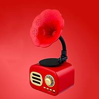 Loa Bluetooth phong cách cổ điển classic style FT-05 âm thanh siêu trầm công suất 5W - Màu đỏ