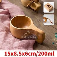 Cốc gỗ Kuksa Bushcraft cốc gỗ cao su handmade