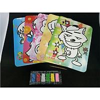 Set 10 Tranh Cát Cho bé họa sĩ nhí size 20x16cm  (Mẫu ngẫu nhiên)