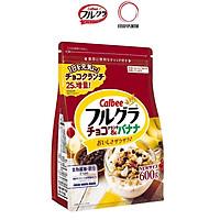 Gói 600g Ngũ Cốc Trái Cây Socola Chuối Calbee Nhật Bản