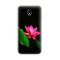 Ốp lưng điện thoại Samsung Galaxy J7 pro - J730 - 01054 7819 LOTUS06 - Silicon dẻo - Hàng Chính Hãng