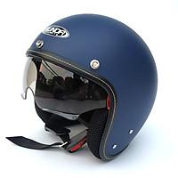 Mũ bảo hiểm 3/4 giấu kính Sunda 388