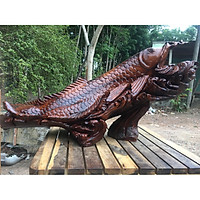 Tượng cá Kim Long phong thủy gỗ Hương đá - Nhiều kích cỡ