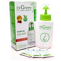 Bình rửa mũi dr.green kèm 10 gói muối lô hội