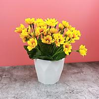 Chậu Hoa Giả Hướng Dương Nụ Để Bàn