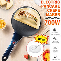 Electric Non-stick Cooker Crepe Pancake Maker Machine Kitchen Cooking Round Pan