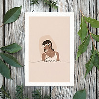 Tranh Poster Phong cách tối giản, Bohemian, Lady, Lifestyle, Fashion, Minimalism, Pastel, SOYN PTK005
