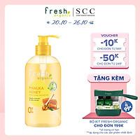 Gel tắm Fresh Organic Dưỡng ẩm vượt trội chiết xuất Mật ong Manuka hữu cơ 500g