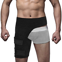 Thigh Support Compression Brace Wrap Black Sprains Therapy Groin Leg Pain Hip