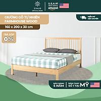 Giường Ngủ Zinus Gỗ Tự Nhiên Cao Cấp Và Sang Trọng Farmhouse Wood Platform Bed