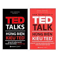 """Combo Thuật Hùng Biện: Hùng Biện Kiểu Ted 1 - Bí Quyết Diễn Thuyết Trước Đám Đông """"Chuẩn"""" Ted + Hùng Biện Kiểu Ted 2 - Bí Quyết Làm Nên Những Bài Diễn Thuyết Hứng Khởi Nhất Thế Giới"""