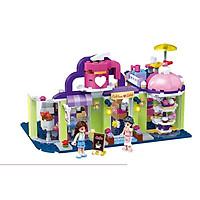 Đồ chơi trẻ em bé trai bé gái Xếp Hình Lắp Ghép Mâu Tiệm Cafe và Bánh Ngọt với 333 Chi tiết bằng nhựa ABS