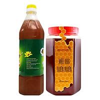 Combo Mật Ong Thiên Nhiên Honeyboy (1kg) + Mật Ong Thô Honeyboy (1L) - Tặng Nghệ Mật Ong Honeyboy (80g)