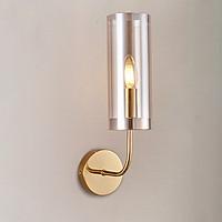 Đèn gắn trang trí tường ngọn đèn trụ thân vàng 1 ống cao cấp GT427 (tặng kèm bóng đèn).