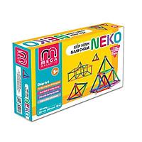 6030L - Bộ xếp hình nam châm thông minh 7 màu Neko (60 thanh, 30 bi) - Thanh dài