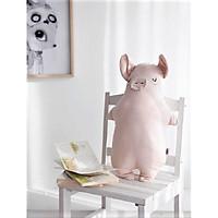 Gối ôm hình chú lợn Decoview, chất liệu linen, KT 29x43cm