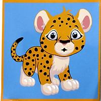 Tranh sơn dầu số hóa tranh tô màu cho bé tự tô có khung - 20x20cm nhiều mẫu SD6