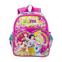 Balo mẫu giáo, bé gái, HAMI bmg204 - hàng chính hãng, hàng Việt Nam chất lượng cao (Hồng phối hồng nhạt, hình công chúa, họa tiết ngẫu nhiên)