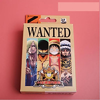 Bộ bài tú lơ khơ One Piece Wanted Luffy 54 ảnh khác nhau in hình anime manga
