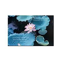 Tranh trang trí hoa sen đẹp và lời Phật dạy