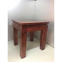 Đôn vuông gỗ xoan đào  (làm ghế thắp nhang, ghế ngồi, kê đồ vật trang trí 30 x30 cao 37)