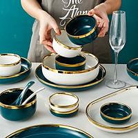 Bộ bát đĩa cao cấp 33 MÓN màu XANH TRẮNG dành cho 8 người ăn mang lại sự sang trọng và tiện nghi GS04