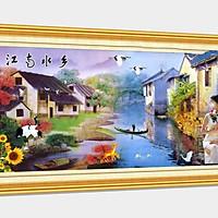 Tranh sơn dầu phong cảnh Châu Âu đặc sắc - tranh gỗ treo tường cao cấp - SD69x
