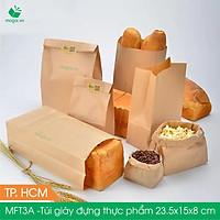 Combo 50 Túi giấy đựng thực phẩm Túi giấy bánh mì