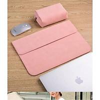 Bao da, túi da, cặp da chống sốc cho macbook, laptop, surface kèm ví đựng phụ kiện